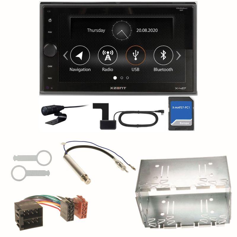 XZENT X-427 Bluetooth PKW Navigation Einbauset für Polo 6N2 9N Bora Ibiza 6L