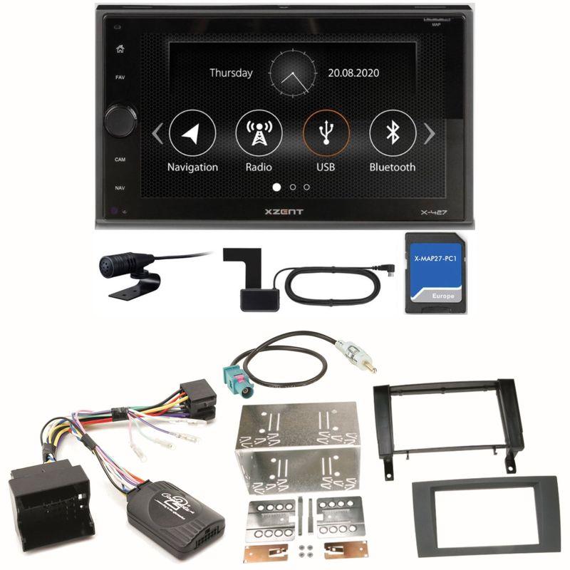 XZENT X-427 Bluetooth PKW Navigation Einbauset für Mercedes SLK R171 ab 2008