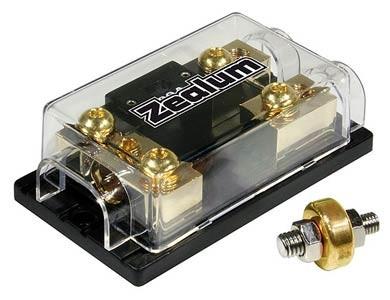 ZEALUM Sicherungsblock 75mm with Ground-Clamps