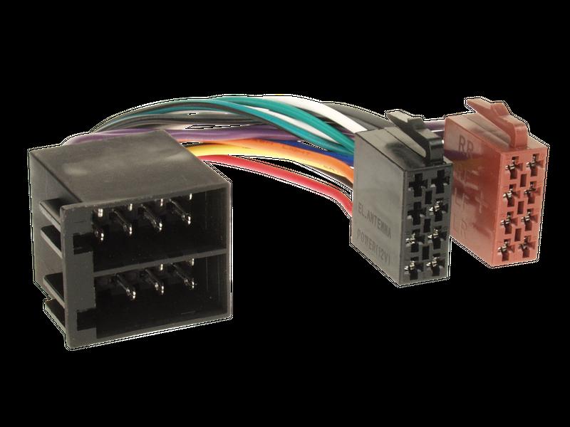 ISO Adapter Stecker Buchse Klemme 15 und 30 gedreht Strom Lautsprecher