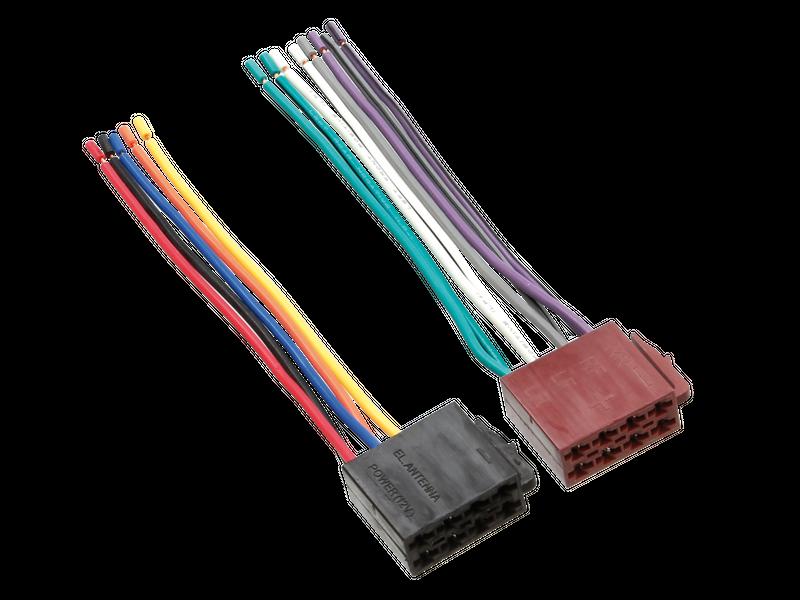 Universal ISO Stecker für Strom und Lautsprecher auf offene Kabelenden