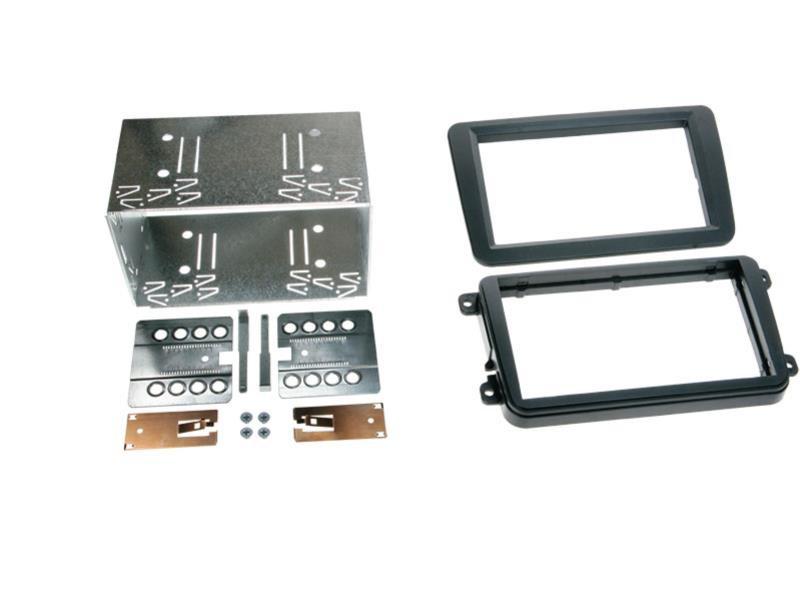 Radioblende 2-DIN für Seat Skoda Einbaurahmen Radiohalterung Doppel-DIN Set