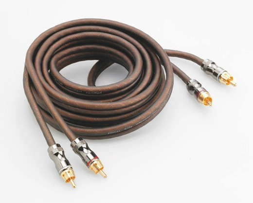 Focal Elite 2-Kanal Cinch-Kabel 500cm 3-Fach abgeschirmt 5 Meter