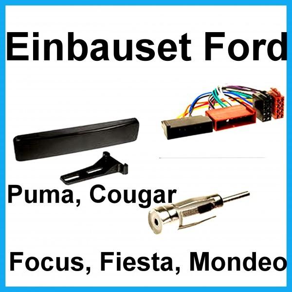 Radioeinbauset Ford Focus Fiesta Puma Mondeo Cougar/Jaguar S-Type