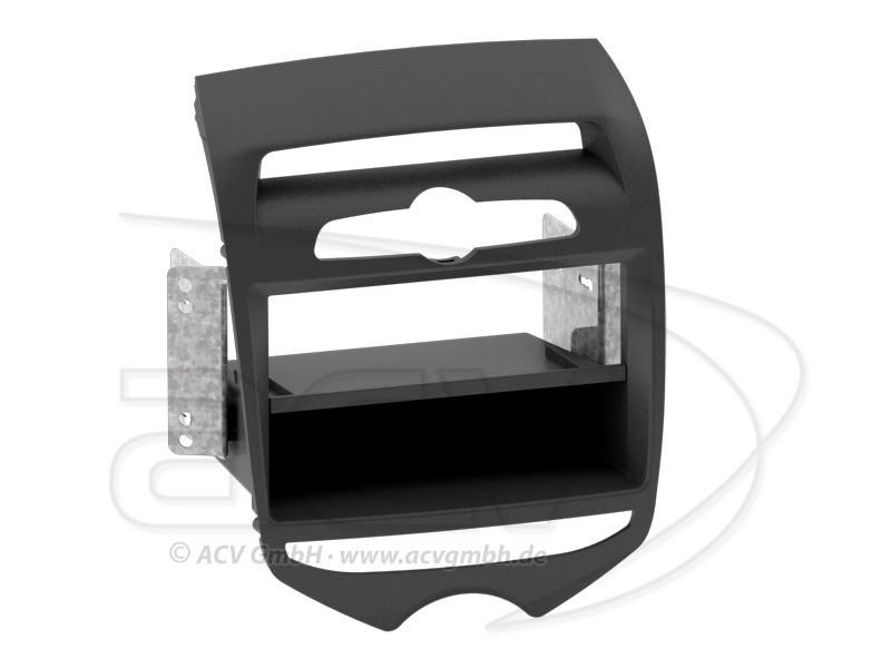1-DIN Radioblende Hyundai ix20 Einbaurahmen Radiohalterung Doppel-DIN Set