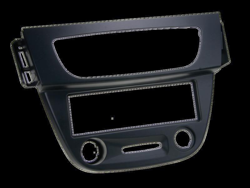 Radioblende passend für Renault Megane III ab 2008 schwarz Radiohalterung 1-DIN