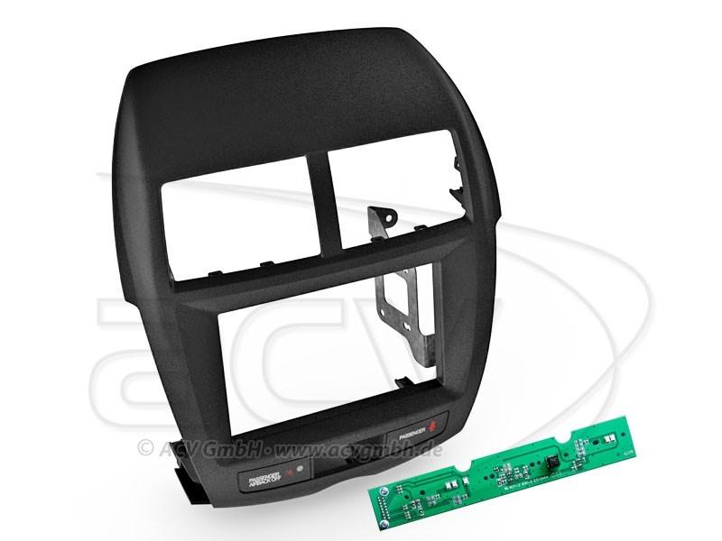 2-DIN Radioblende Mitsubishi ASX Einbaurahmen Radiohalterung