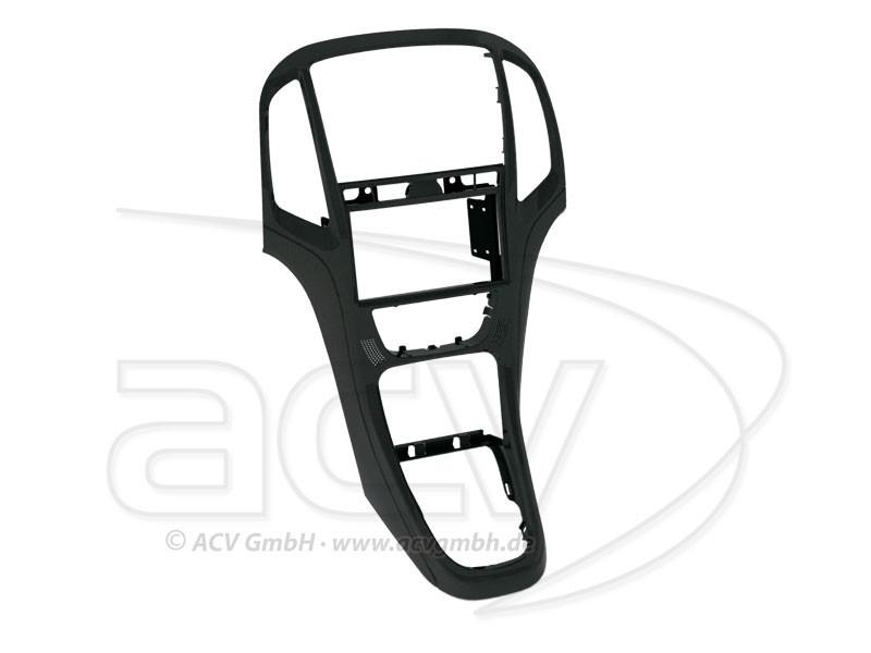 2-DIN Radioblende Opel Astra J Perlschwarz Einbaurahmen Radiohalterung
