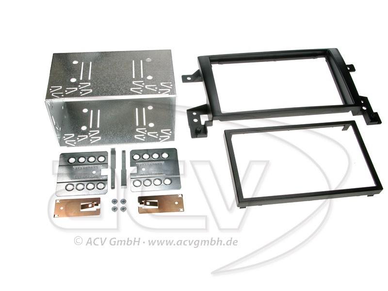 2-DIN Radioblende für Suzuki Grand Vitara Einbaurahmen Doppel-DIN Set