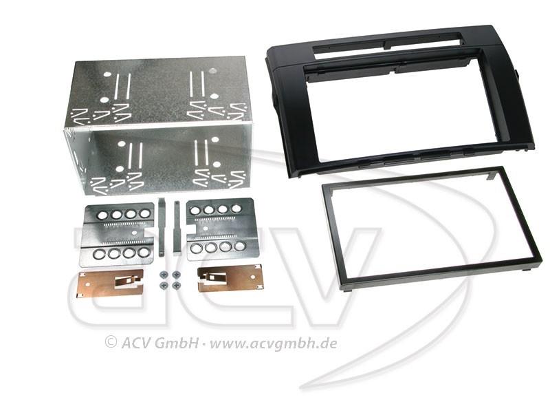 2-DIN Radioblende für Toyota Corolla Verso Einbaurahmen Schwarz Doppel-DIN Set