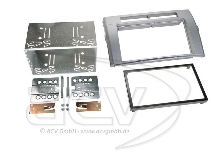 2-DIN Radioblende für Toyota Corolla Verso Einbaurahmen Doppel-DIN Set