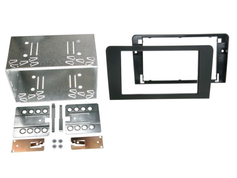 2-DIN Radioblende für Audi A3 8P 8PA Einbaurahmen Radiohalterung Schwarz