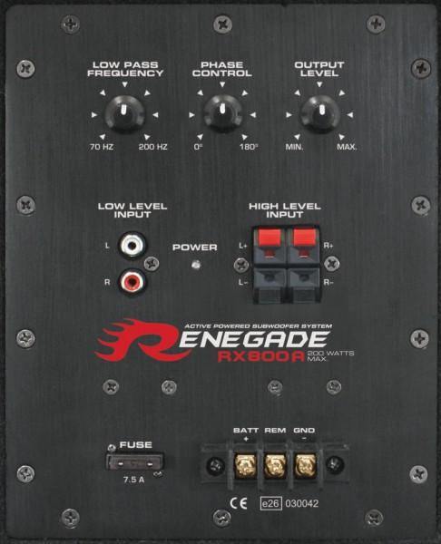 Renegade RX800A Aktiv-Subwoofer 20cm mit integriertem Verstärker