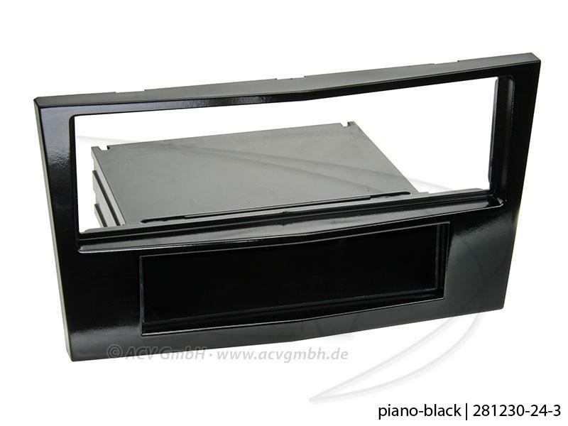 1-DIN Radioblende Piano black Opel Antara Astra H Corsa D Zafira B Klavierlack
