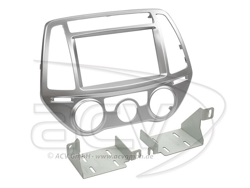 2-DIN Radioblende Doppel DIN Set Hyundai i20 Einbaurahmen Radiohalterung