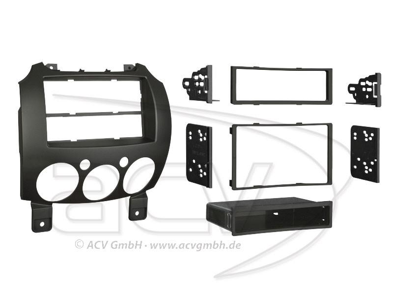 1-IDN / 2-DIN Radioblende Mazda 2 Einbaurahmen Radiohalterung