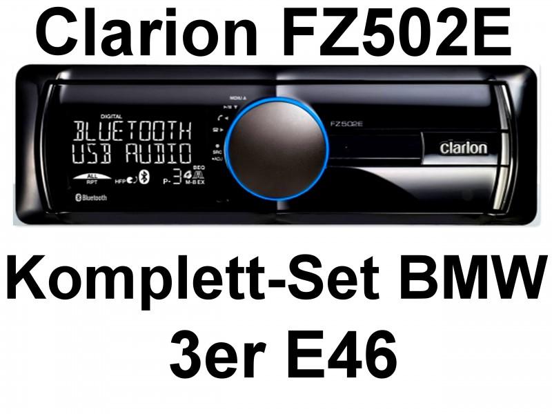 clarion fz502e bluetooth mp3 radio rds wma usb einbauset. Black Bedroom Furniture Sets. Home Design Ideas
