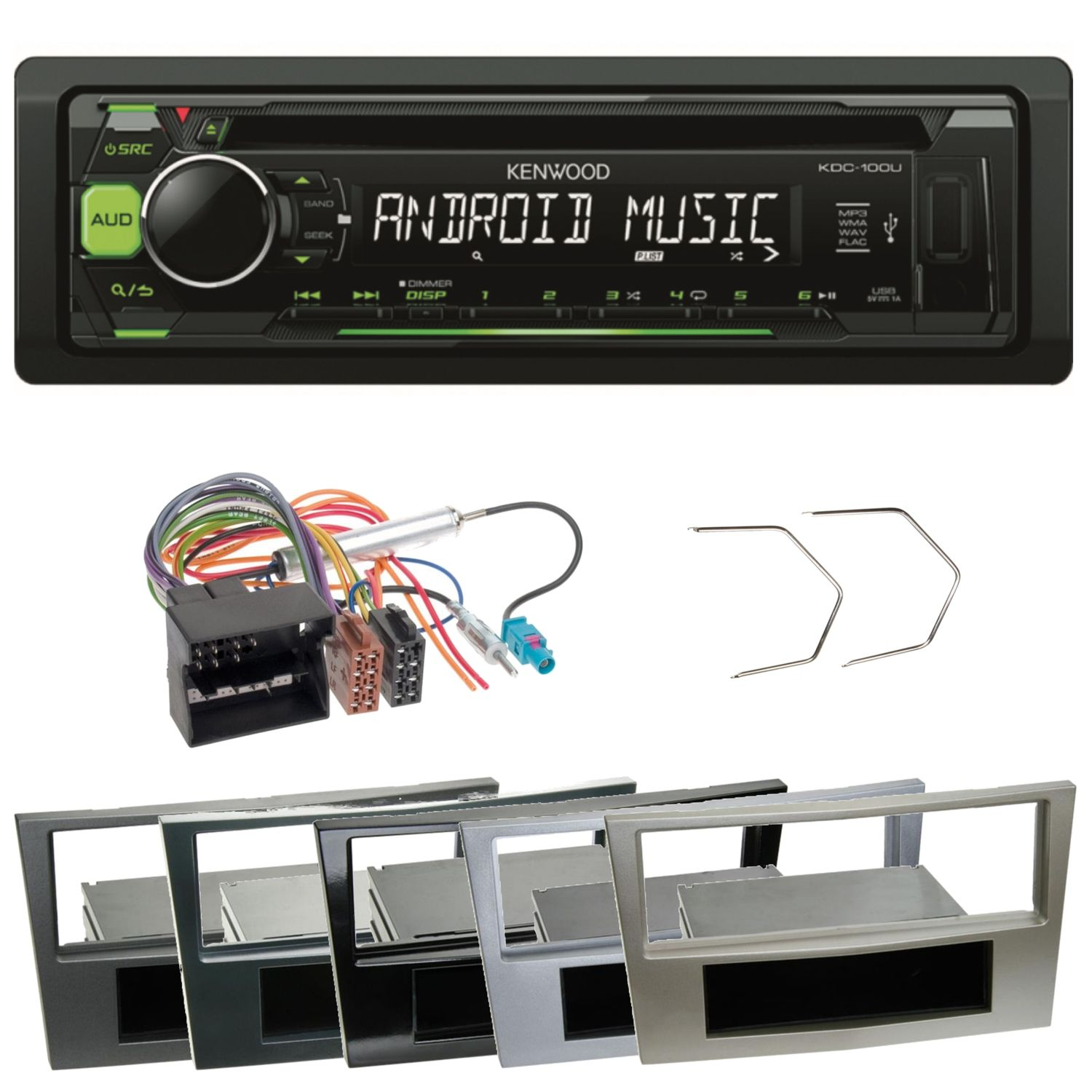 kenwood kdc 100ug autoradio usb mp3 einbauset f r opel. Black Bedroom Furniture Sets. Home Design Ideas