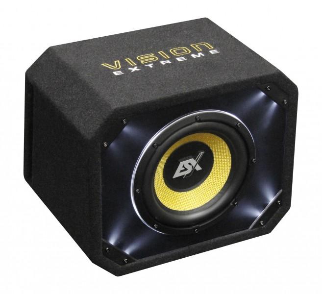 esx vision ve250 bassreflex subwoofer mit 25 cm bass 800. Black Bedroom Furniture Sets. Home Design Ideas
