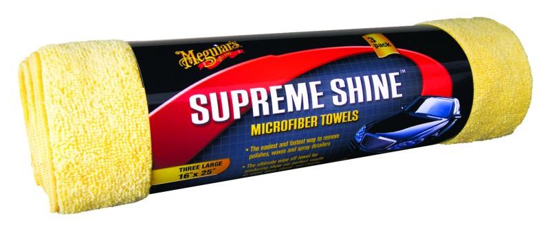 Meguiar`s Supreme Shine Microfiber X2020 Mikrofasertuch 3er Pack Waschbar