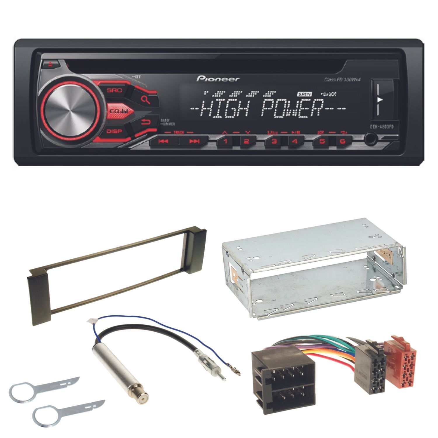 Pioneer deh 4800fd autoradio usb mp3 ipod cd einbauset f r for Mueble 2 din seat leon 1m