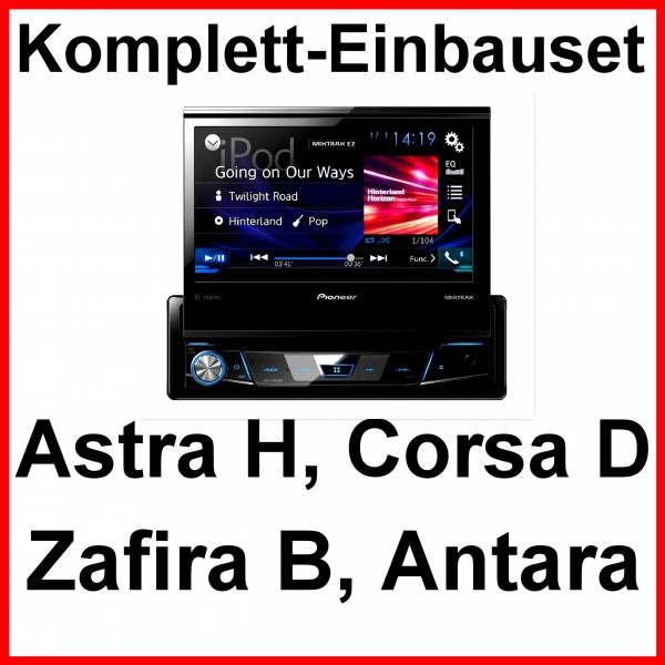 pioneer avh x7800bt autoradio cd usb einbauset f r opel astra h corsa d zafira b. Black Bedroom Furniture Sets. Home Design Ideas