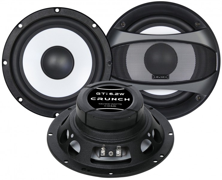 Crunch GTI-6.2W Woofer Set Kickbass Lautsprecher Set 16,5 cm 165 mm
