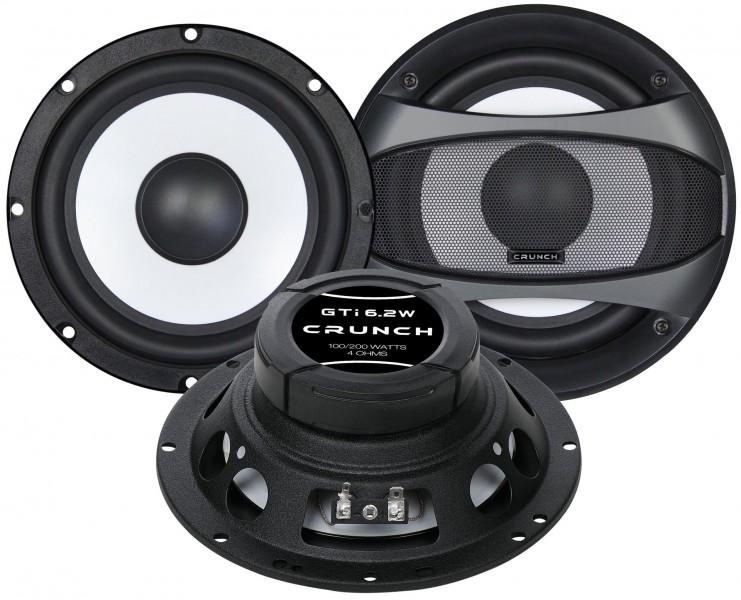 Crunch GTI-6.2W Woofer Set Kickbass Lautsprecher Set 16,5 cm 165 mm
