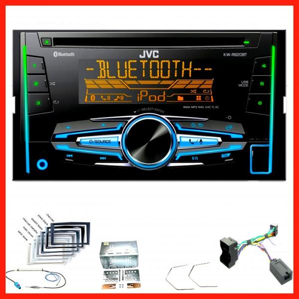 JVC MP3 Bluetooth USB CD 2DIN Lenkrad Autoradio für Opel Corsa D Astra H Zafira