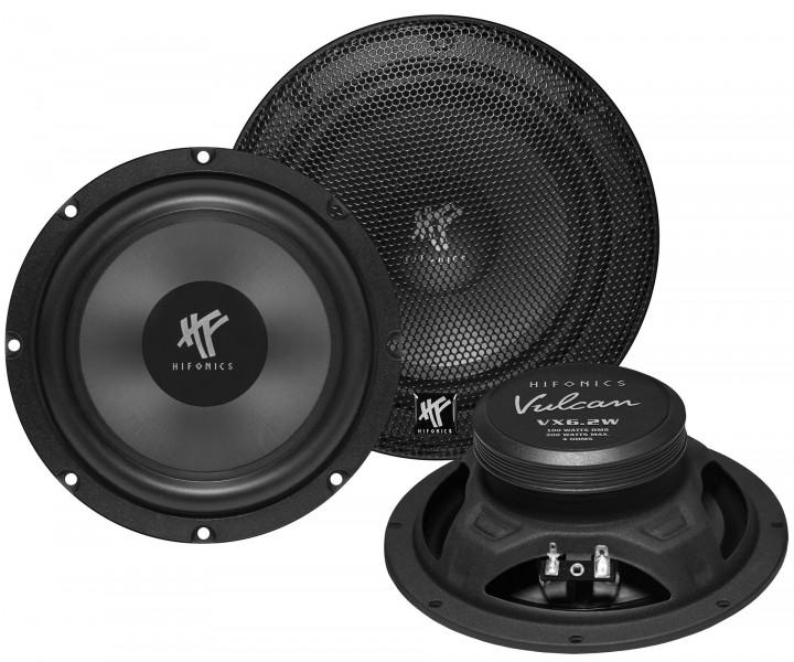 Hifonics VX-6.2W Vulcan Woofer Kickbass Lautsprecher 16,5 cm 200 Watt max. 165mm