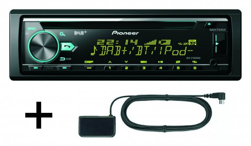pioneer deh x7800dab autoradio mit usb bluetooth dab cd. Black Bedroom Furniture Sets. Home Design Ideas