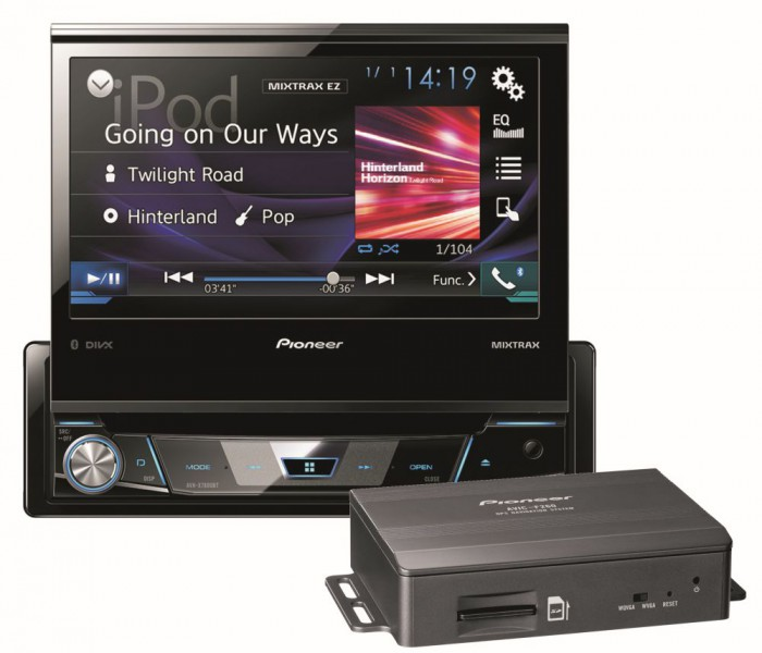 pioneer navgate78bt 1 din autoradio navigation usb dvd. Black Bedroom Furniture Sets. Home Design Ideas