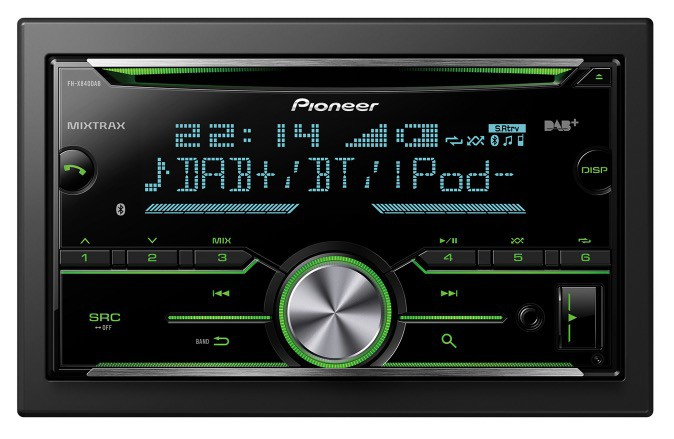 pioneer fh x840dab 2 din autoradio mit dab bluetooth. Black Bedroom Furniture Sets. Home Design Ideas