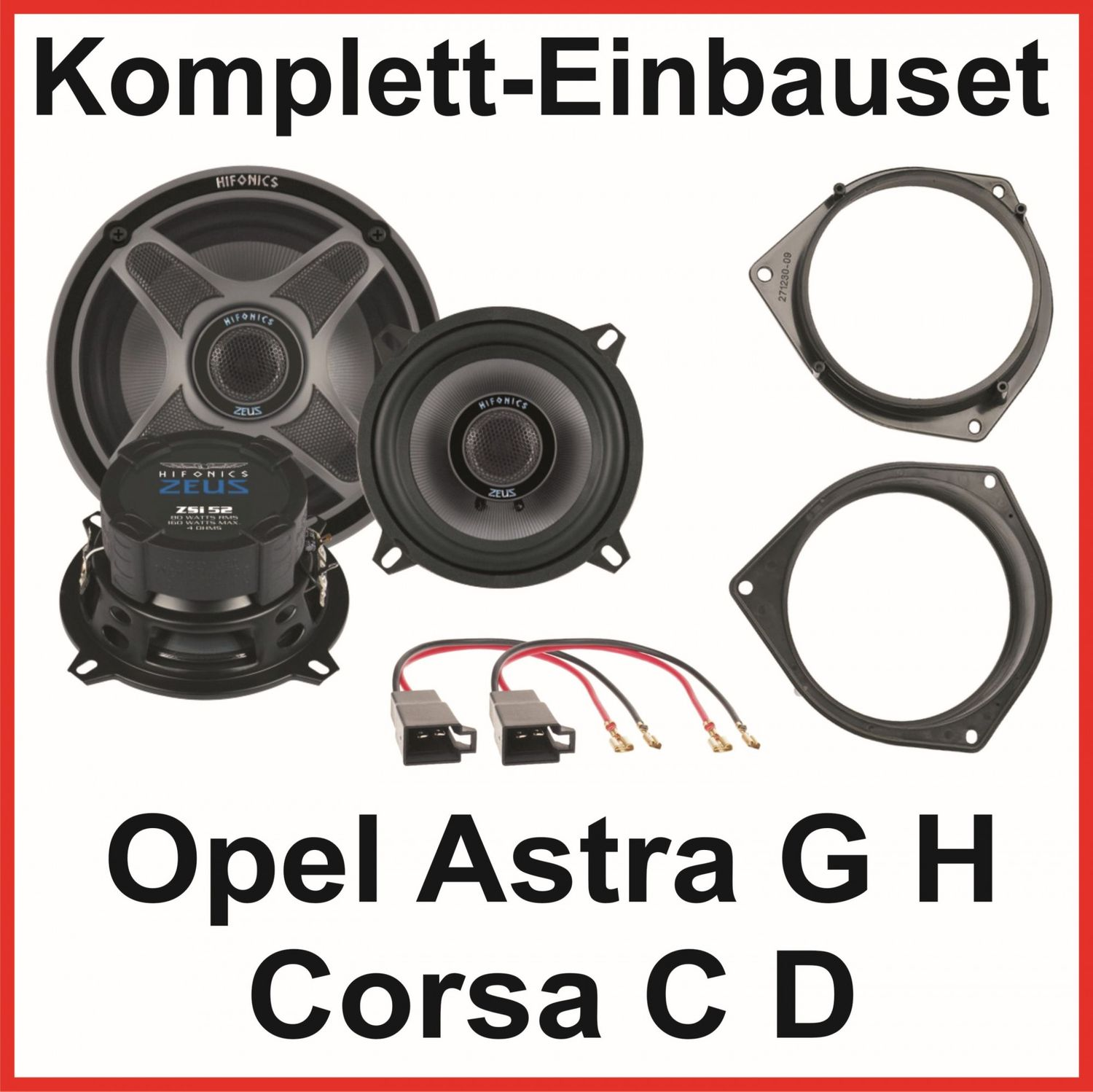 lautsprecher set opel astra g h corsa c d hifonics zsi52 2. Black Bedroom Furniture Sets. Home Design Ideas