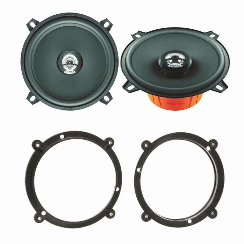 Hertz DCX 130.3 2 Wege Lautsprecher System vorne Einbauset für Audi A3 8L