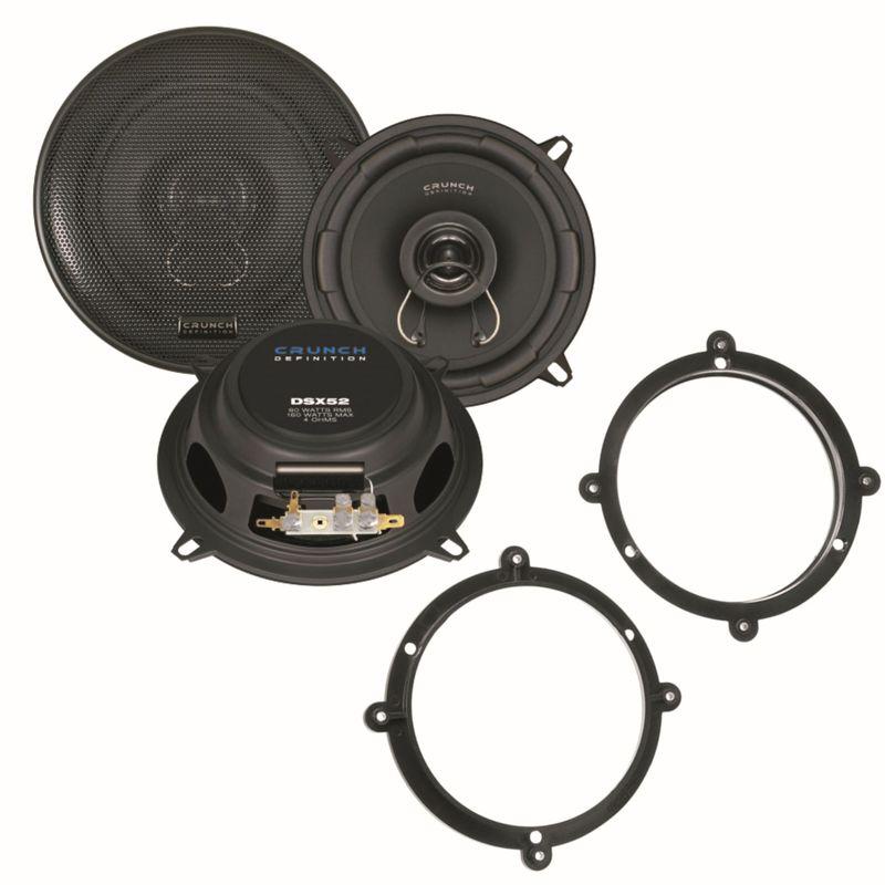 Crunch DSX52 2 Wege Lautsprecher System vorne Einbauset für Audi A3 8L