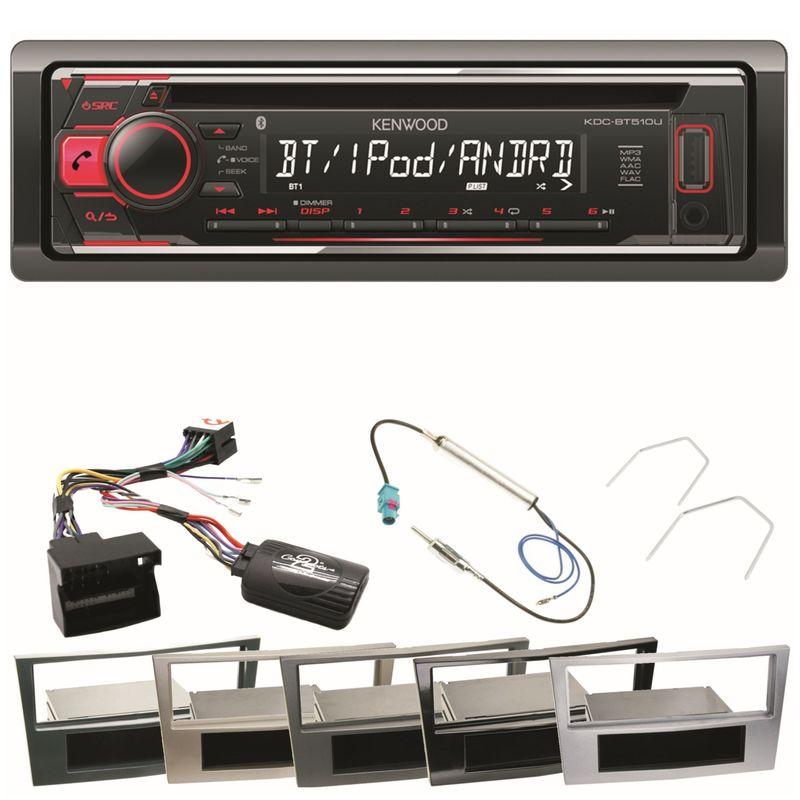 Autoradio KDC-BT510U USB Bluetooth CD Einbauset für Opel Astra H Corsa D Zafira B