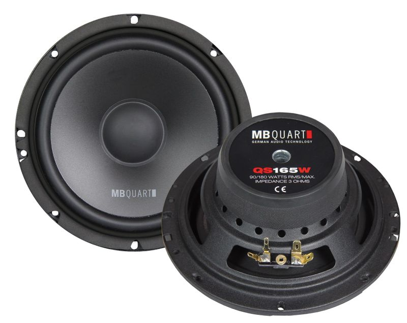 MB QUART QS165W Woofer Set Kickbass Lautsprecher 16,5 cm 165 mm 180 Watt max.