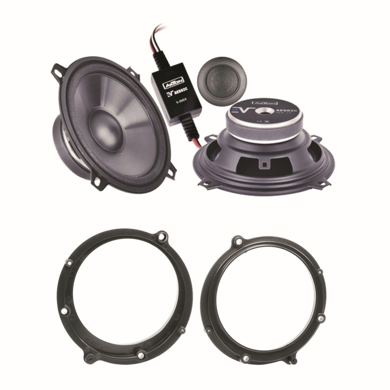 axton ae502c 2 wege lautsprecher system vorne einbauset. Black Bedroom Furniture Sets. Home Design Ideas