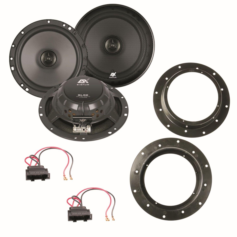 esx sl62 2 wege koaxial system lautsprecher set f r caddy. Black Bedroom Furniture Sets. Home Design Ideas