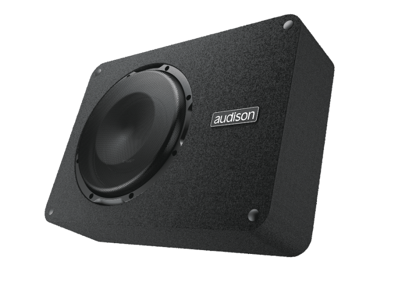 Audison Prima APBX 10 DS Subwoofer Flach 25 cm 250 mm 4 + 4 Ohm 400 Watt max.