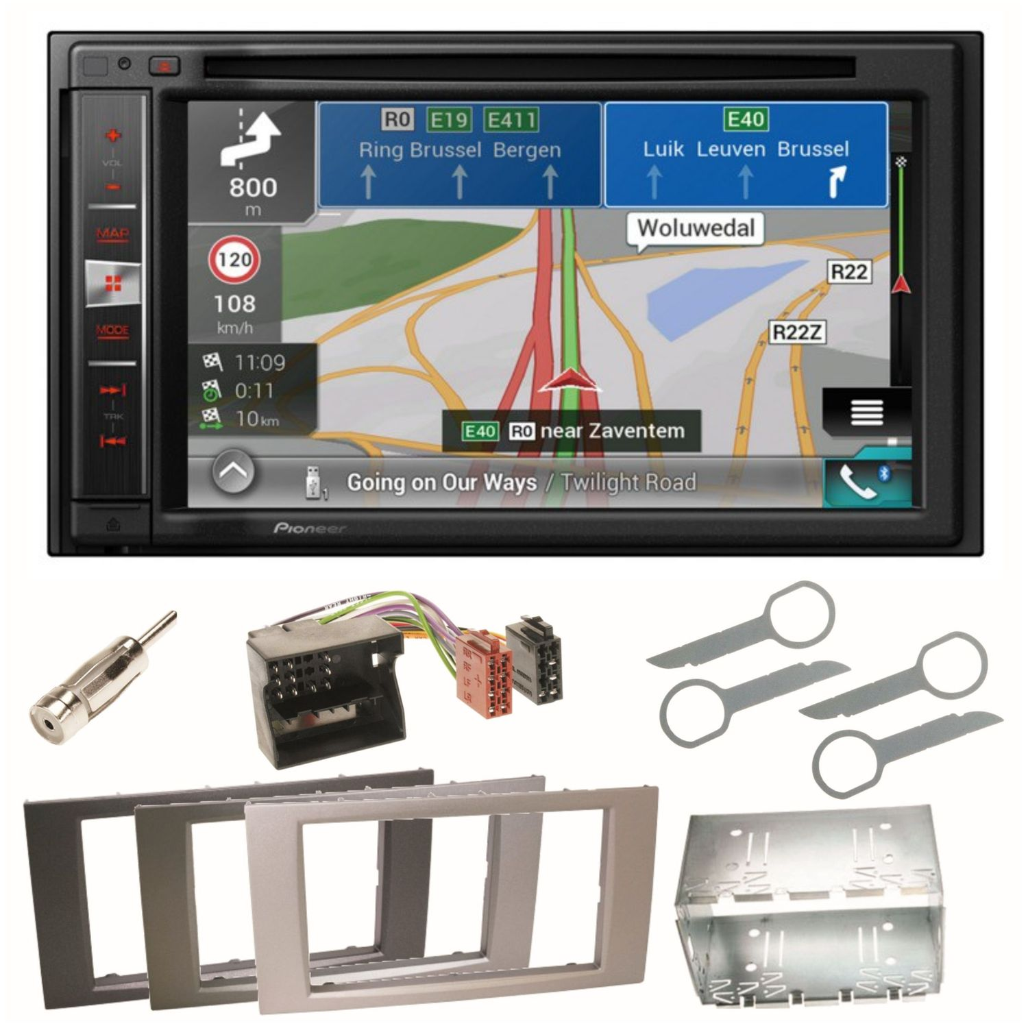 pioneer avic f980bt navigation dvd usb mp3 einbauset f r. Black Bedroom Furniture Sets. Home Design Ideas