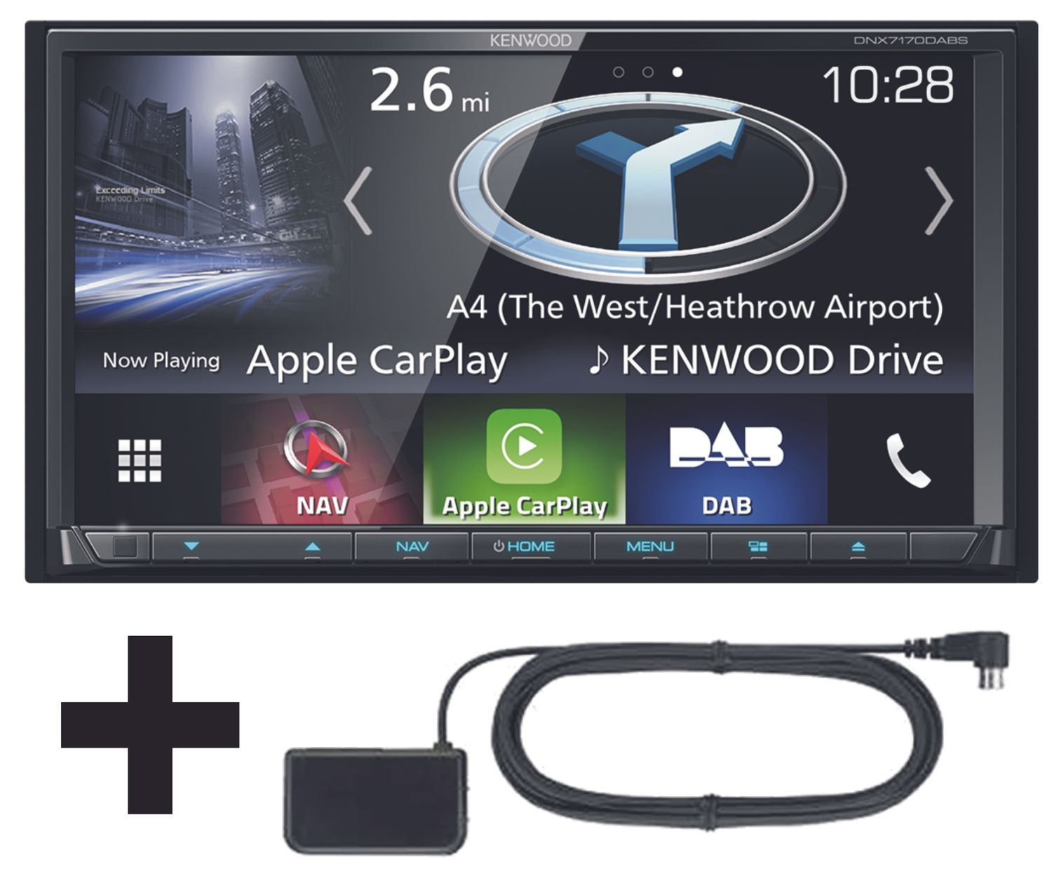 kenwood dnx 7170dabs 2 din naviceiver carplay android auto. Black Bedroom Furniture Sets. Home Design Ideas