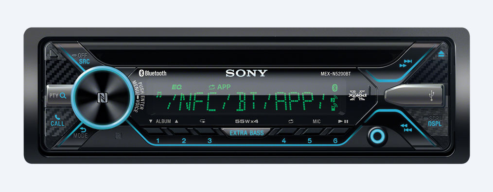 sony mex n5200bt autoradio mit bluetooth. Black Bedroom Furniture Sets. Home Design Ideas