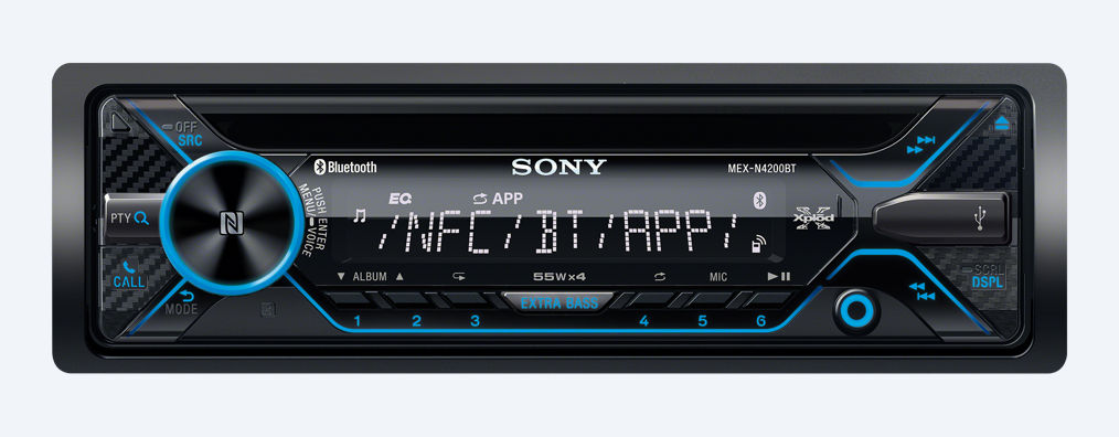 sony mex n4200bt autoradio mit bluetooth. Black Bedroom Furniture Sets. Home Design Ideas