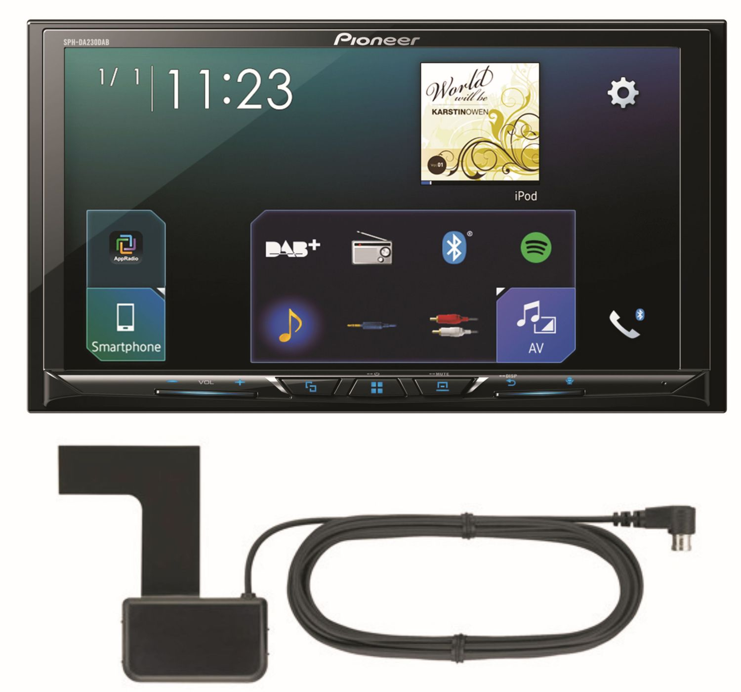 PIONEER SPH-DA230DAB 2-DIN Digitalradio CarPlay Android ...