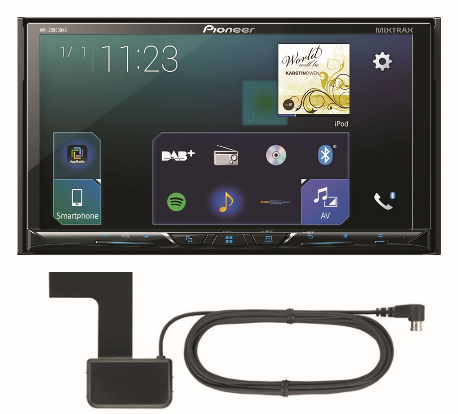Pioneer AVH-Z5000DAB Digitalradio CarPlay Android Auto Autoradio ...