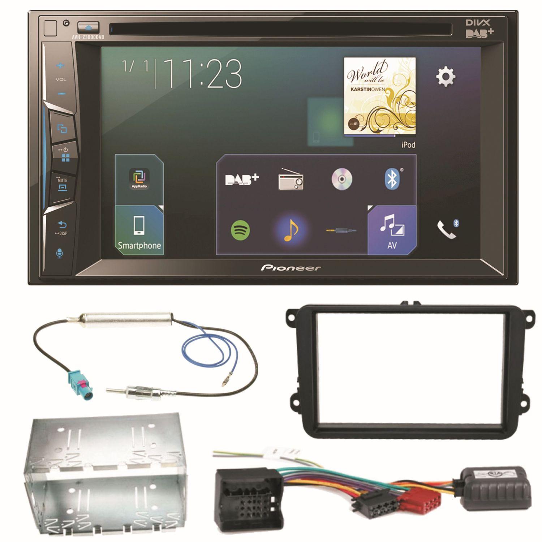 Pioneer AVH-Z3000DAB Bluetooth Autoradio Einbauset für Golf 5 6 ...