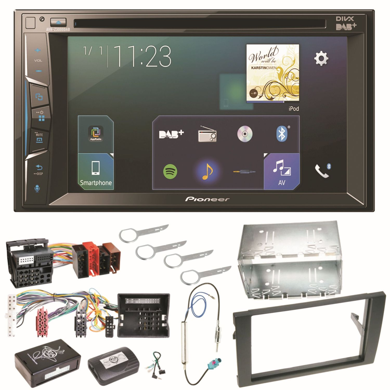 Pioneer AVH-Z3000DAB Carplay Autoradio Digitalradio Einbauset für ...