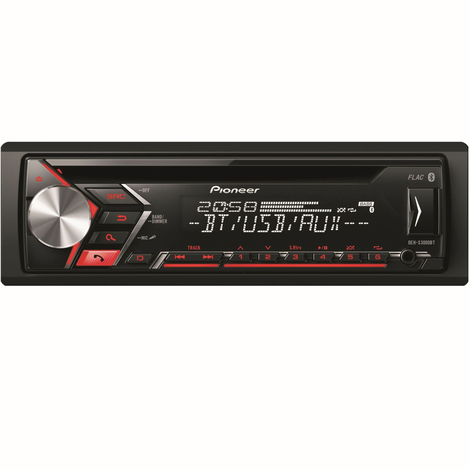 pioneer deh s3000bt cd mp3 usb autoradio mit bluetooth. Black Bedroom Furniture Sets. Home Design Ideas